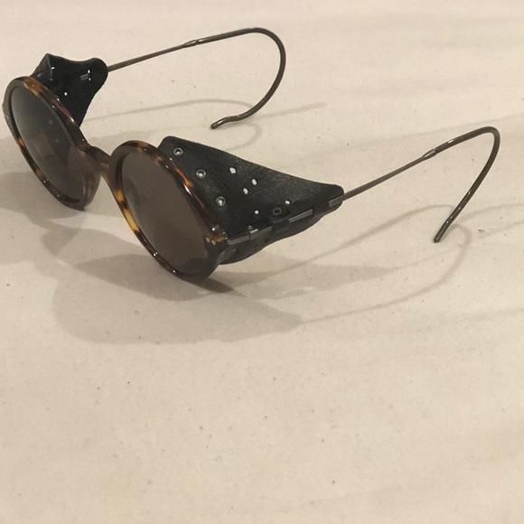 0a9e227fb5b Giorgio Armani Accessories - Vintage Giorgio Armani leather sunglasses